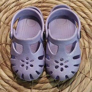Toddler Girl Slip On Water Shoes Glitter Purple 5